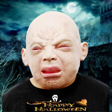 2017 Halloween Funny Cry Baby Full Head Face Latex Scary Mask Party Cosplay Prop