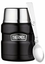 Food-flask 0.47l Thermos Termos in acciaio inossidabile Nero 470 ml (xu0)