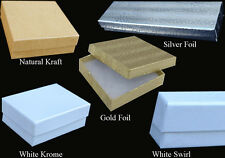 """50 PCS 6x5x1"""" White Swirl #65 Jewelry Boxes Gift Packaging Favor Retail Display"""