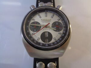 CITIZEN CHRONOGRAPH MENS WATCH DAY & DATE CALENDAR AUTOMATIC 8110 silver dial