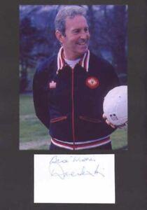 Dave Sexton - Man Utd - Signed Photo & Index Card - COA (14891)