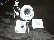 Dome Weatherproof IP IR CCTV Color Camera 6mm F2.0 CMOS CS lens White Aptina 1/3
