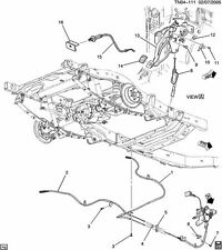 NOS Parking Break System for Chevrolet Colorado's and Hummer H3's (20832044)