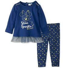 96991dae7 Disney Minnie Mouse Bebé Niña Conjunto Ropa Set Top de Fiesta Leggings 9-36