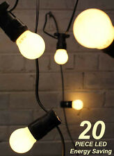 20 Metre LED Vintage Warm White Pearl Festoon / Party Light Kit