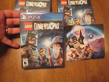 LEGO DIMENSIONS PS4 SONY + FREE BONUS POSTER NEW SEALED (No Portal Or Figures)