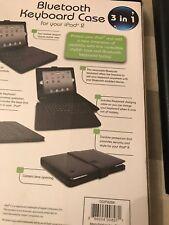 Digital Gadgets DGIPA2BK 3-in-1 Bluetooth Keyboard and Case for iPad 2 NEW
