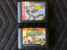 Sega Genesis 2 Game Lot - Contra: Hard Corps & Zombies Ate My Neighbors