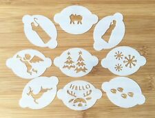 Face Painting Christmas stencil x 9 pieces wash/reuse 190 micron mylar