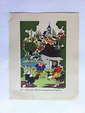 LA POULE SANSTICKETS Dessin illustration H.MONIER HUMOUR 1942