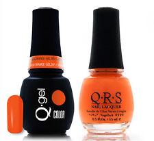 Gel & Polish QRS Beauty Combo MAT285 Carribbean Orange COMBO Neon Light Orange