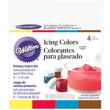 Wilton Food Color Icing Primary Colors. Four 1/2 oz. Jars