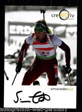 Simon Eder TOP AK Original Signiert Biathlon + A 56300