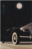 Googie Art Deco Car Handmade DIGITAL Counted Cross Stitch Pattern Needlepoint