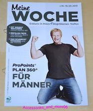 Weight Watchers Meine Woche 10.03. - 16.03.2013 Für Männer ProPoints™ Plan 360°