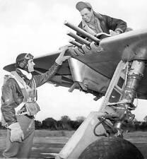 WWII B&W Photo Col. Robert Johnson P-47 Ace  WW2 /1075
