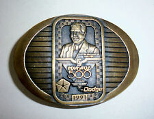 1991 INDIANAPOLIS 500 Belt Buckle-Tony Hulman-Dodge Viper Pace Car-Rick Mears