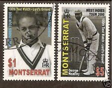 MONTSERRAT 2000 LORD'S CRICKET 100th TEST MATCH 2v FINE USED