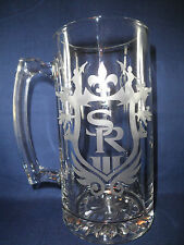 Saints Row 3 Etched Beer Stein-ps3-xbox360,video games, saints row