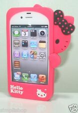Hello Kitty Silicone Case For Apple iPhone 4 4S With Front Back Screen Protector