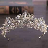 Princess Bridal Wedding Rhinestone Hollow Tiara Prom Handband Crystal Crown Gift