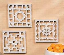 """3 Laser Cut  Wall Decoration Pictures Decor 9"""" x 9"""""""