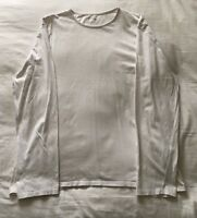 Mens Topman White Long Sleeved Top Size XL Extra Large