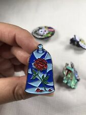 Beauty and the Beast Belle Rose Enamel Pin.