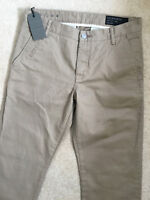 "ALL SAINTS MEN'S BEIGE SAND ""VOLT"" CHINOS TROUSERS PANTS - 28"" - NEW & TAGS"