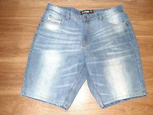 Mens Shorts Blue Size 36 Denim 759 Relaxed Fit Seamed $58 #091 Ecko Unltd