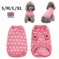 Pet Cat Dog Warm Jumper knitted Sweater Clothes Knitwear Costume Coat Apparel UK