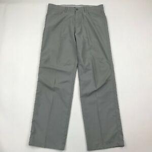 "Callaway Men Gray Flat Front Golf Pants sz 34x34 (Actual 36x32"")"