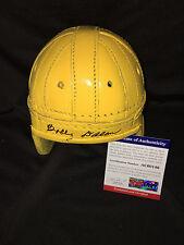 Bobby Dillon Signed Leather Green Bay Packers Mini Helmet 74 Packers HOF PSA #2