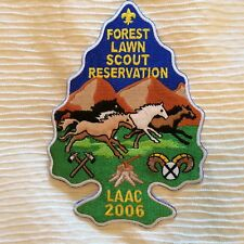 "2006 Forest Lawn Scout Reservation Patch LAAC - 6"" tall - BSA"