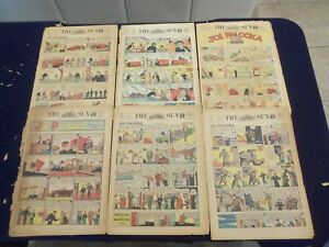 1941-1947 THE BALTIMORE SUN SUNDAY COLOR COMICS SECTIONS - LOT OF 6 - NP 5192
