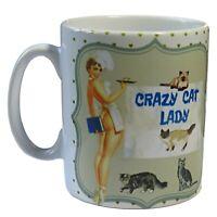 Crazy Cat Lady Mug, Crazy Cat Lady, Cat Lady, Cat Mom, Pin Up Girl, Cat Mug.