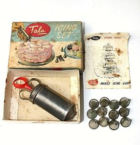 Tala Icing kit 12 nozzles Vintage Baking Cookery Cake decorating Cookie  6