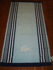 LACOSTE LIGHT BLUE & WHITE BEACH TOWEL 36X72 INCHES