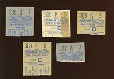1972 & 1973 ABA Basketball Playoff Ticket Stubs 5 Different