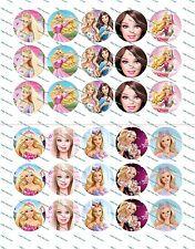 """30 Precut 1"""" Barbie Bottle cap Images Set 1"""