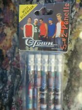 2002 O-Town Otown 5 Piece Pencils Set With Book Mark Vintage