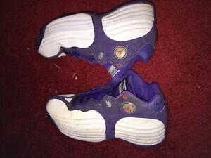 Jordan Jumpman Team 1 Basketball Shoes Size 10.5 Used White Purple 644938-153