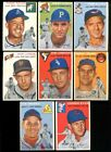 1954+TOPPS+BASEBALL+LOT+OF+8+DIFFERENT+EX+%2A271198
