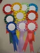 Blank rosettes, 10 rosettes per pack, rosette  Assorted colours