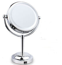 6''Bathroom Makeup Beauty Lamp Mirror Double Sided Magnifying Cosmetic Mirror X3