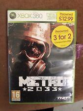 Metro 2033 - Xbox 360 - Free UK Post.