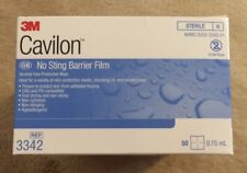 3M Cavilon Sterile No Sting Barrier Film Wipes Swabs REF 3342 Box of 50! NEW