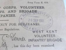 British Issued Documents & Map Militaria (1903-1913)