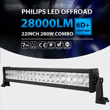 22inch 280W LED Work Light Bar Combo Offroad Fit For Dodge Ram 1500 VAN BOAT 6D+