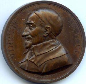 France Medal Copper Vincent Of Paul 1821